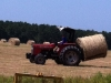Kaleb moving hay to the barn